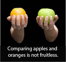 compare apples & oranges