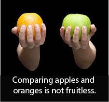 compare apples & oranges